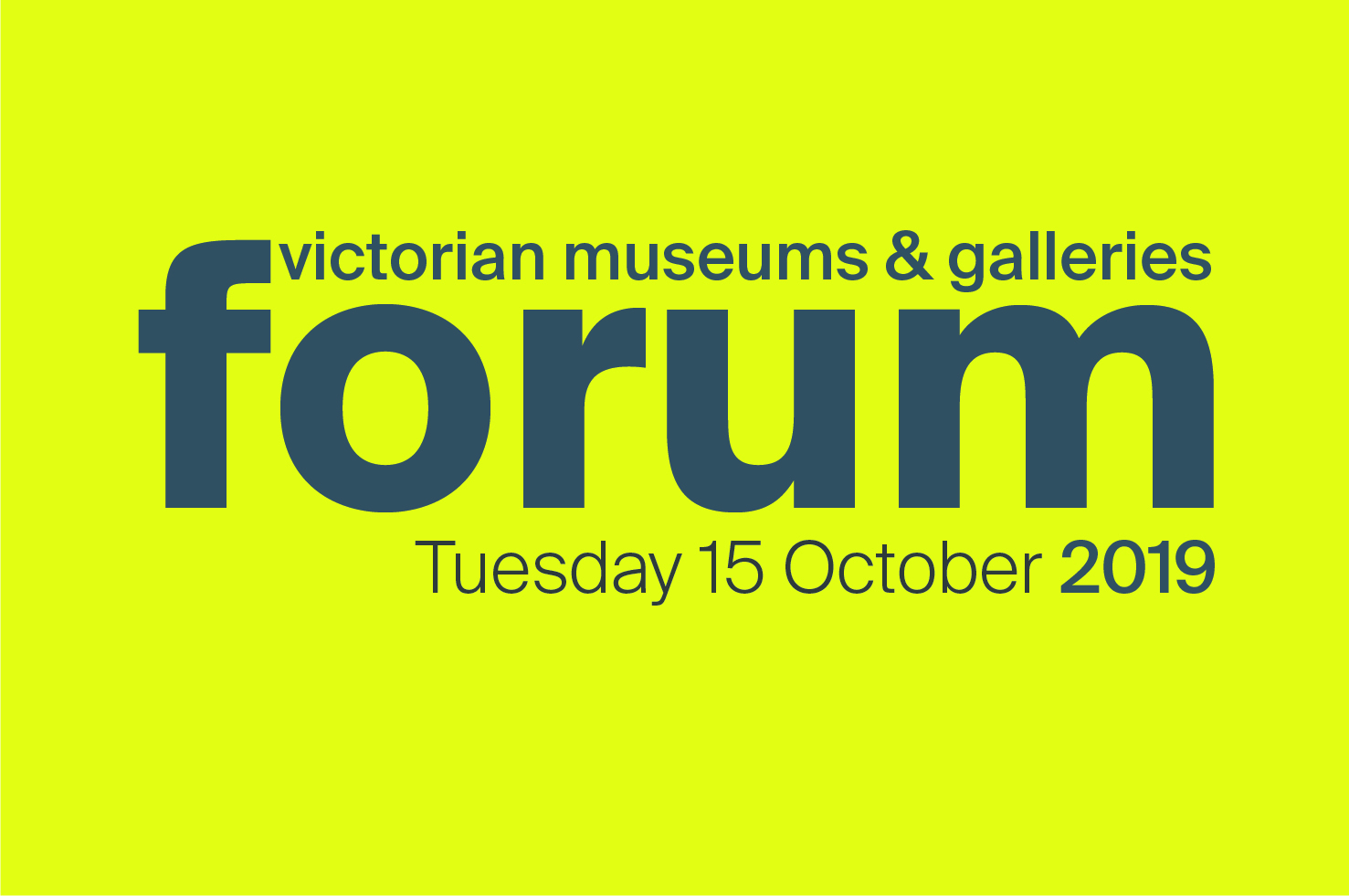 Victorian Museum and Galleries Forum 2019 promo image