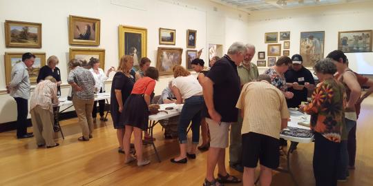 Image: Museum Practice workshop on preventive conservation at the Castlemaine Art Gallery and Historical Museum.