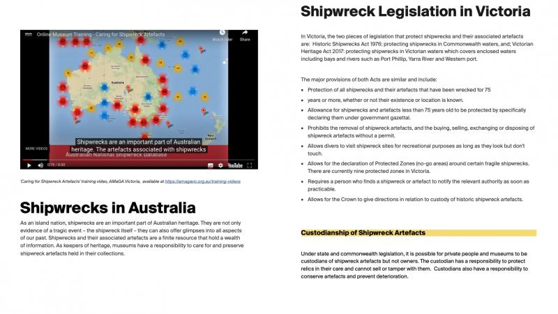 Shipwrecks - Legislation and Conservation