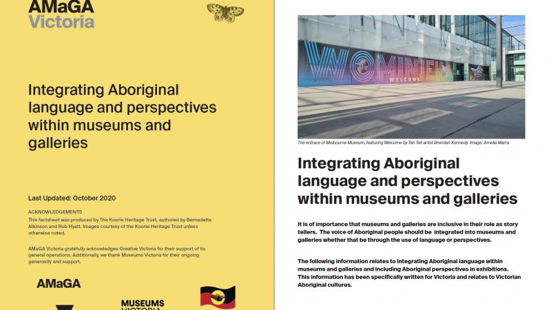 Integrating Aboriginal Language within Museums and Galleries
