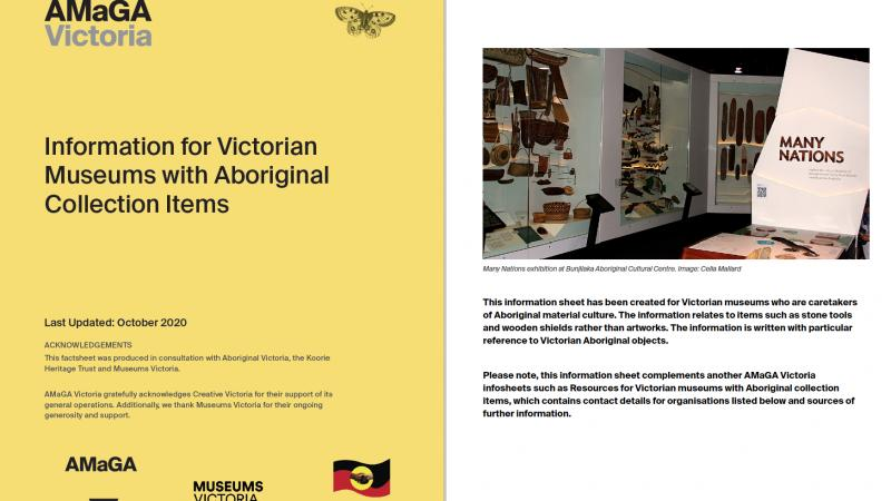 Information for Victorian Museums with Aboriginal Collection Items