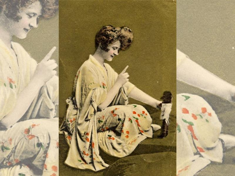 Banner image: Postcard: Miss Billie Burke, from the collection of Sovereign Hill and Gold Museum