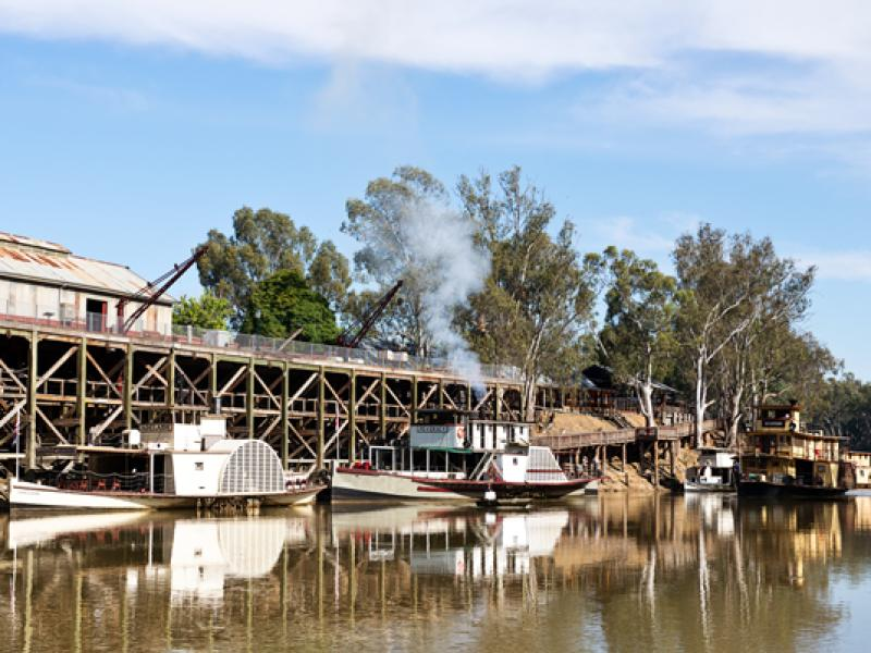Echuca Wharf Paddlesteamers, Port of Echuca