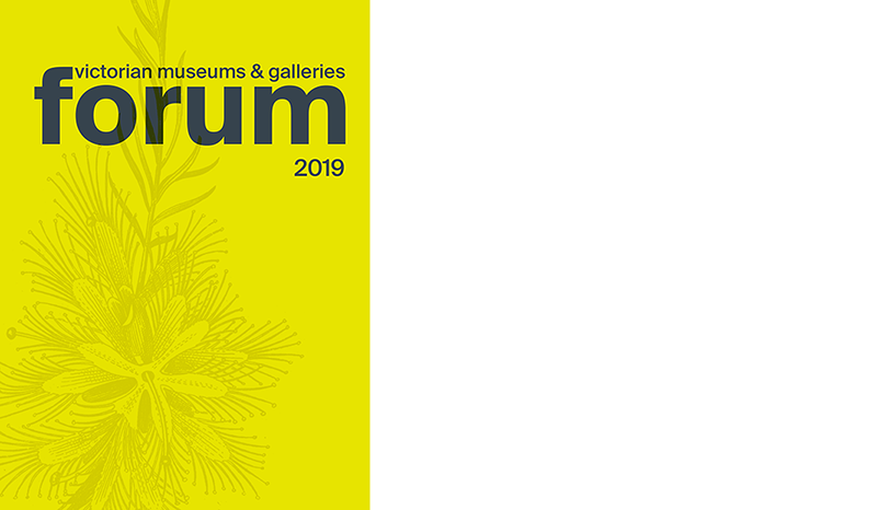 2019 Victorian Museums and Galleries Forum Program cover