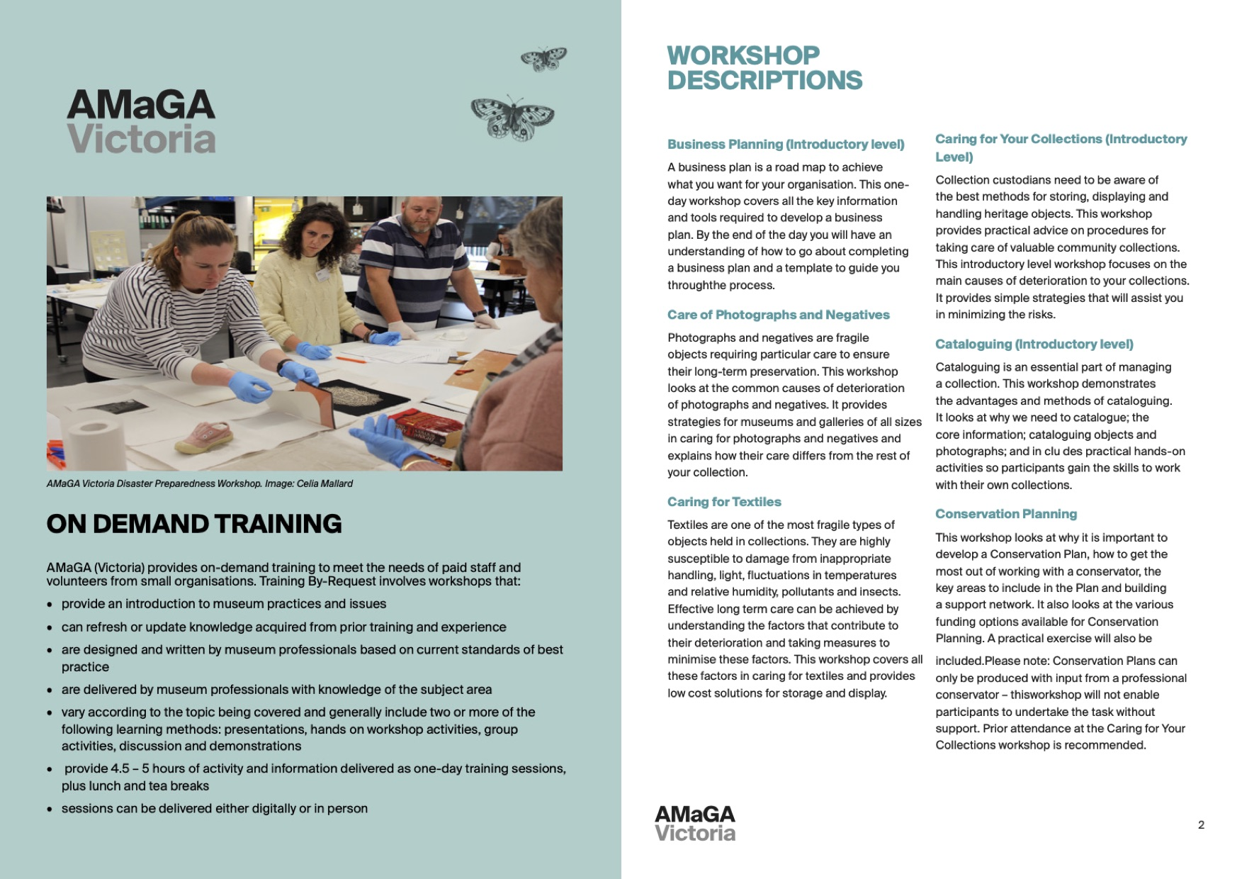 On demand training flyer image